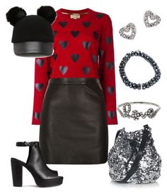 """""""Sans titre #4909"""" by kina-ashley ❤ liked on Polyvore featuring Topshop, Burberry, Sydney Evan, Kate Spade, River Island, H&M and Forever 21"""