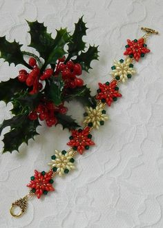 Your place to buy and sell all things handmade Christmas Poinsettia, Beaded Christmas Ornaments, Christmas Earrings, Christmas Crafts, Crochet Ornaments, Crochet Snowflakes, Crochet Christmas, Christmas Angels, Christmas Christmas