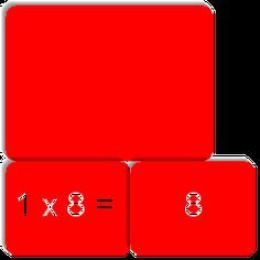 Tafel van 8 is a memory matching game (like Concentration) created by Madelène Schippers.  It has the following match cards: 1 x 8 = /8, 2 x 8 =/16, 3 x 8 = /24 , 4 x 8 =/32 , 5 x 8 = /40, 6 x 8 =/48, 7 x 8 = /56, 8 x 8 =/64, 9 x 8 = /72, 10 x 8 =/80