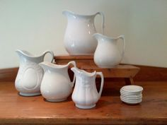 I love the simplicity of white ironstone <3