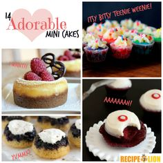 Itsy Bitsy Teenie Weenie: 14 Adorable Mini Cakes - Give a little love with these easy cake recipes!