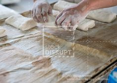 Bakery Chef Placing Ciabatta Loaf