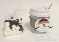 Confessions of a Stamping Addict Lorri Heiling Coffee Cup Snowman (Hot Chocolate) Project