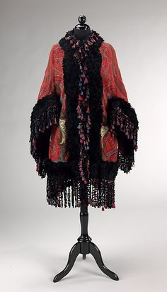 I WOULD SOOOOO WEAR THIS!!! Coat (Dolman) Arnold Constable & Company (American) Date: 1870–80 Culture: American Medium: wool, silk