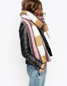 Buy ASOS Oversized Block Check Brushed Scarf at ASOS. With free delivery and return options (Ts&Cs apply), online shopping has never been so easy. Get the latest trends with ASOS now. Looks Style, Style Me, Inspiration Mode, Street Style, Look Chic, Mode Style, Get Dressed, Autumn Winter Fashion, Winter Style