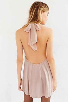 Kimchi Blue Bow Tie Halter Tunic Top - Urban Outfitters