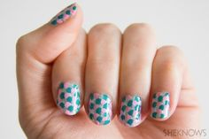 Mermaid scales nail art