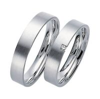 witgouden trouwringen gematteerd vl/b - bofb - sieraden, horloges & design-