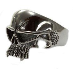 """925 Sterling Silber Ring """"Space Skull"""""""
