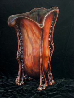 great inspiration for a hand-built vessel - this amazing piece sculpted in Cherry & pigment by David Bennett!