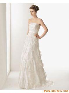 princesa sem alças mangas uma linha de vestido de noiva de renda
