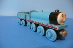 Thomas & Friends_Wooden_Edward_1996 VIntage_Flat Painted Coal Tender_Authentic