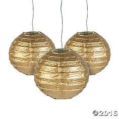 "Mini Gold Paper Lanterns - 4 1/2"""