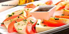 Ensalada gourmet con mozzarella