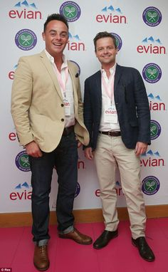 Ant and Dec at Wimbledon