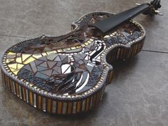 BURIED TREASURE Mosaic Violin by racman on Etsy