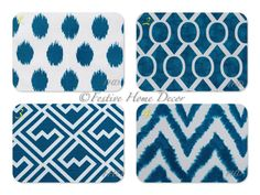 SALE Euro Sham Decorative Throw Pillow Covers NEW 24 x 24 Deep Turquoise on White Slub Mix and Match. $21.60, via Etsy.