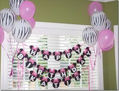 Party ideas for my niece Faith's first birthday... she loves minnie mouse. :)