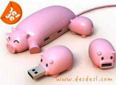 """MERCHANDISING - REGALO DE EMPRESA - REGALO PUBLICITARIO - DESDESL  Un original """"ladrón"""" para varios USB... ¿te gustan?  www.desdesl.com"""