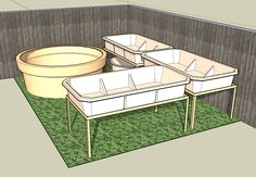Design your own Aquaponics System. BYAP/Google Sketchup. After installing and running through a quick tutorial you can open the BYAP components link below and use the components to design your very own Backyard Aquaponics system to suit your own yard.