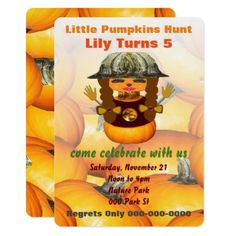 Nature Girl Lily Pumpkins Hunt Card - birthday gifts party celebration custom gift ideas diy