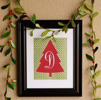 Christmas Tree Monogram Printables