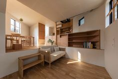 Tato Architects has completed House in Takatsuki, a three-storey Japanese house containing 16 split-level floors and no staircase. Indoor Outdoor Bathroom, Knock Down Wall, Charred Wood, Wood Cladding, Terrazzo Flooring, Architect House, Japanese House, Japanese Style, Affordable Housing