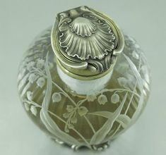 Odiot Antique French Sterling Silver Crystal Inkwell... FROM THE PINTEREST BOARD: http://www.pinterest.com/joanwack/inkwellspensblotters/: #SterlingSilverCrystals