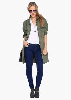 Call Me Sargent Jacket in Olive | Necessary Clothing