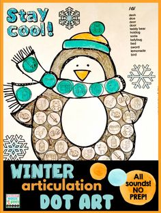 These are easy, print-n-go, fast-paced and productive articulation activities. I love them especially for preschoolers and young children because it keeps their little hands, mouths and minds busy. These were made just for your winter themed lessons