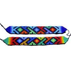 """Caminos"" Brick Patterns, Bead Loom Patterns, Beading Patterns, Native American Beadwork, Tear, Loom Beading, Hama Beads, Pixel Art, Venus"