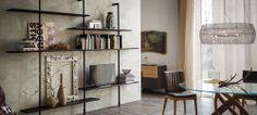 AIRPORT Wall-mounted bookcase by Cattelan Italia design Giorgio Cattelan Italian Furniture, Home Furniture, Furniture Design, Bibliotheque Design, Modular Walls, Italia Design, Interior Exterior, Living Room Sofa, Dining Room
