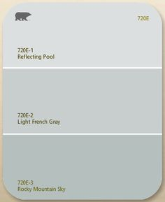 Behr - Light French Gray I used this color in our master bath and LOVE it! Some days it looks pale gray and others a gray blue. Looks great with cream, gray and blue accents. Blue Gray Paint Colors, Behr Paint Colors, Paint Color Schemes, Light Gray Paint, Neutral Paint, Interior Paint Colors For Living Room, Paint Colors For Home, Bedroom Colors, Bathroom Colours
