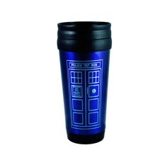 Tardis Travel Mug Doctor Who Coffee Blue Tea by AndroidSheepFTW, $25.00