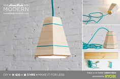 HomeMade Modern DIY EP42 Wood Pendant Lamp Postcard