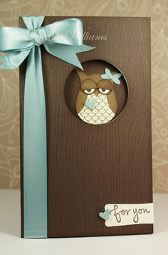 Use with embossing folder (wood grain) instead of paper.