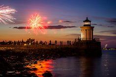 Bug Light Fireworks by BenjaminMWilliamson, via Flickr