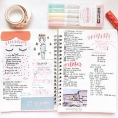 Planning, journaling, writing or keeping a diary isn& for everyone but for those who fancy a new hobby or taking up studying something new in 2017 this is the Poetry Journal, Journal Notebook, Study Inspiration, Bullet Journal Inspiration, Journal Ideas, Bullet Art, Cute Journals, Bullet Journal Notes, Journal Template