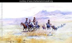 Coming across the Plain - Charles Marion Russell - www.charlesmarionrussell.org