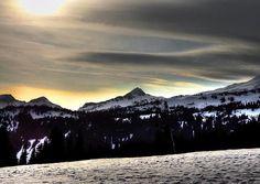 Looking West at Pyramid Peak at Mt Rainier National Park