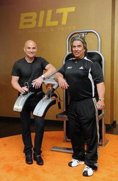 BILT by Agassi & Reyes_ Tennis training equipment built by Andre Agassi and right, Gil Reyes