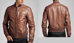Arrow Men Bomber Lightweight Lambskin Leather jacket – 76y1