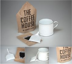 The Coffee House #packaging that looks like a tea bag