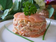 Millefeuille saumon et crabe