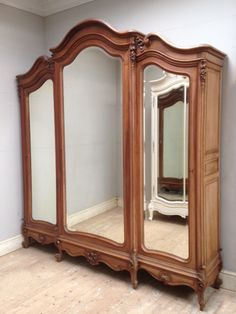 French antique triple door armoire with Rococo / Frenchfinds.co.uk
