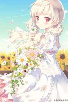 Kết quả hình ảnh cho anime girl tóc bạch kim
