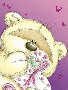 Mailtje van sNora merci he Colorful Drawings, Cute Drawings, Teddy Bear Images, Fizzy Moon, Moon Bear, Bear Character, Bear Drawing, Blue Nose Friends, Baby Girl Cards