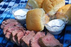 Cold beef tenderloin sandwiches work well for tailgating, as there's no sweating over a hot grill.