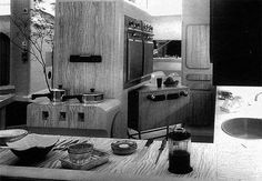 The photos and excerpts below are featured in the book Fifties Source Book and highlight the Kitchen of the Future built for the 1956 Daily Mail Ideal Home Exhibition. Kitchen Units, Daily Mail, Future House, Ideal Home, Architecture, House Styles, Mass Production, Plastic, Design