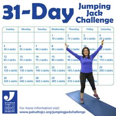 beginners jumping jacks 30 day plan  google search  lose